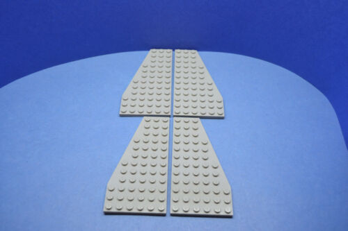 LEGO 2 Paar Flügelplatten 6x12 althell grau oldgrey gray wing 30355 30356
