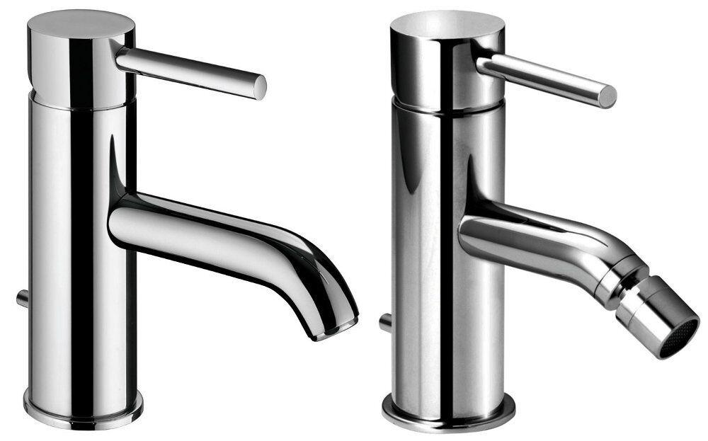 Miscelatore rubinetto per lavabo da bagno e bidet Idrojoech ottone cromato