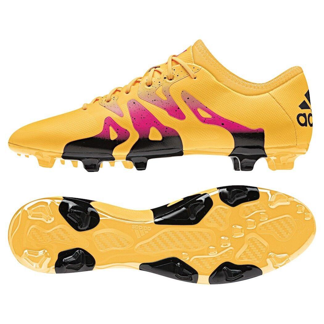 Adidas X 15.2 FG AG Synthetik Fußballschuhe Gold   schwarz   Rosa