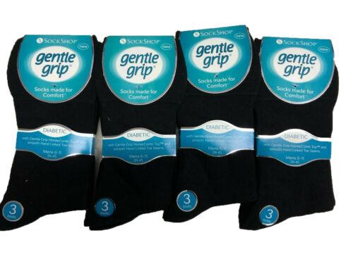 Women/'s Cotton Diabetic Non-Elastic Socks Gentle Grip Hand Linked Toe Seam