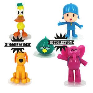 POCOYO-SET-5-STATUETTE-PERSONAGGI-figure-elly-pato-loula-sleepy-toy-giocattoli