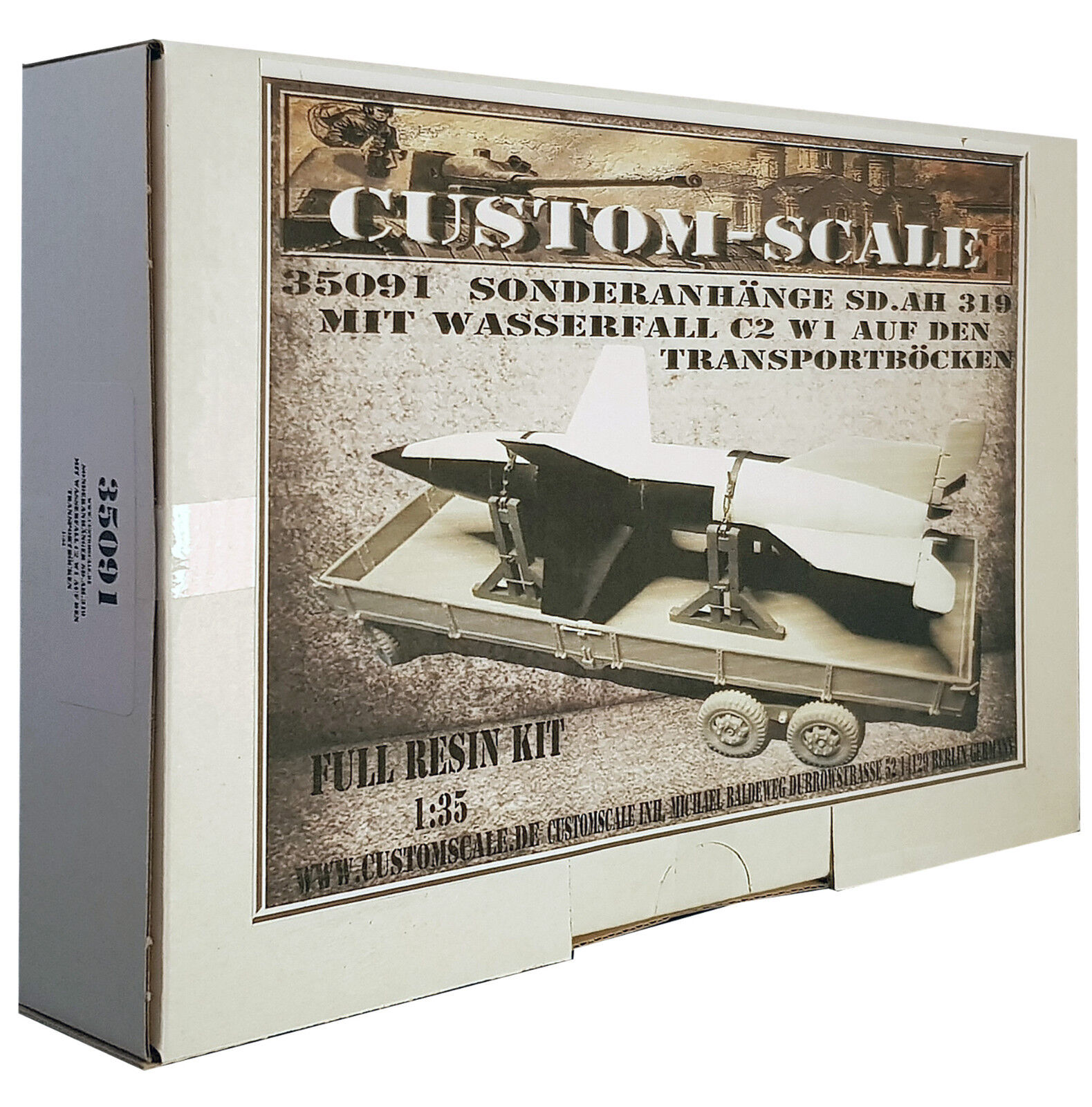 1 35 35091 Sonderanhänger Sd.Ah. 319 mit Wasserfall Full Resin Kit Custom-Scale    Qualität und Quantität garantiert