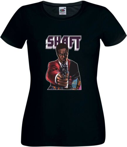 SHAFT T SHIRT PRIVATE EYE DETECTIVE JOHN SHAFT 1970/'S MOVIE POSTER STYLE T-SHIRT