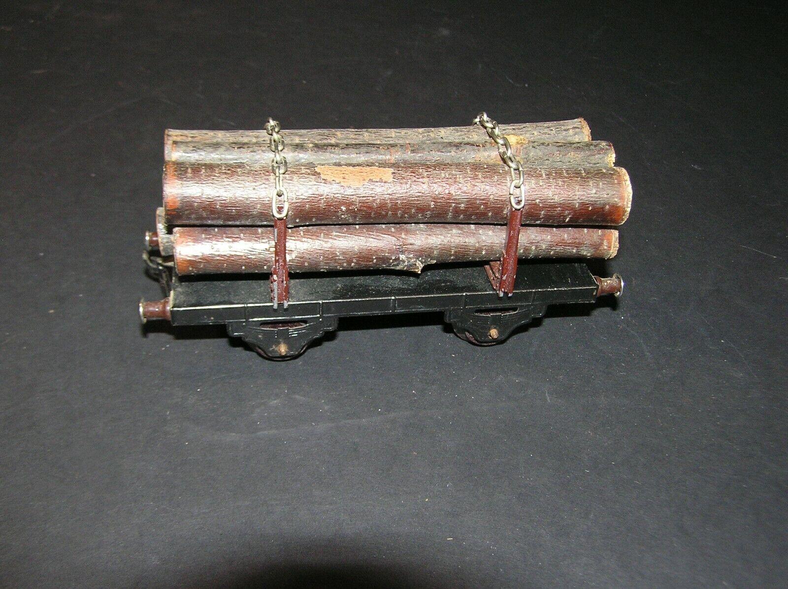 Fleischmann O Scale 1950's Log Wagon U.S. Zone Germany (i)
