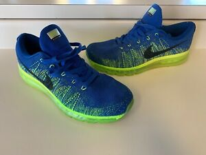 pretty nice e583f 4c320 Image is loading NIKE-Air-Max-FLYKNIT-GAME-ROYAL-BLUE-BLACK-
