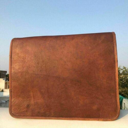 Men/'s Genuine Leather Messenger Laptop Shoulder Vintage Brown Crossbody Satchel