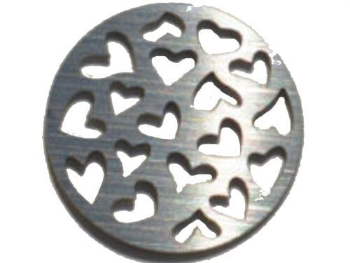 16 Mm De Acero Inoxidable Placa Trasera De Disco Para Pulseras Memoria Amuleto Flotante Relicario