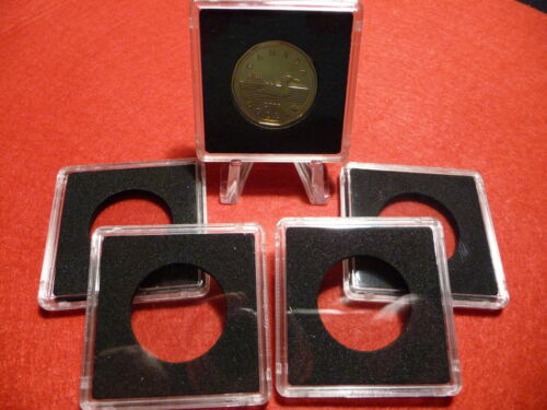 QUADRUM : SQUARE COIN CAPSULE SYSTEM  27mm  (pkg of 5)  LOONIES (#5)