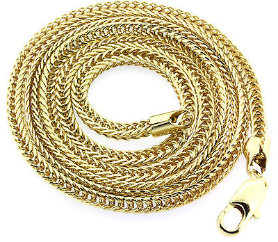 "24"" Inch Gold Plated 3mm Franco Chain Necklace Hip-Hop Chain FREE ANGEL"