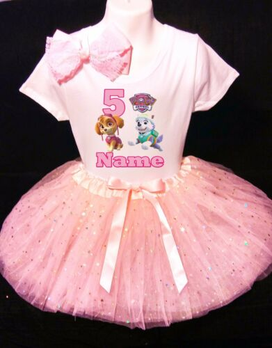 Paw Patrol SKYE 5th Birthday dress--With NAME- party Tutu outfit