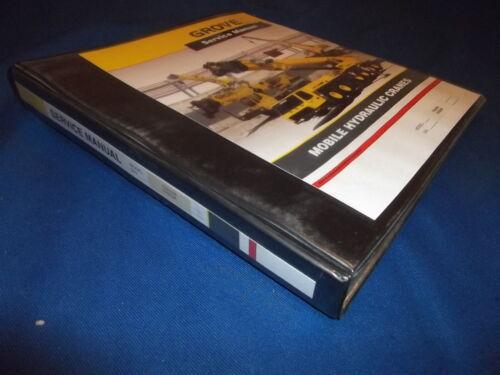 GROVE YB4208 YB4408 CRANE SERVICE SHOP REPAIR CATALOG BOOK MANUAL