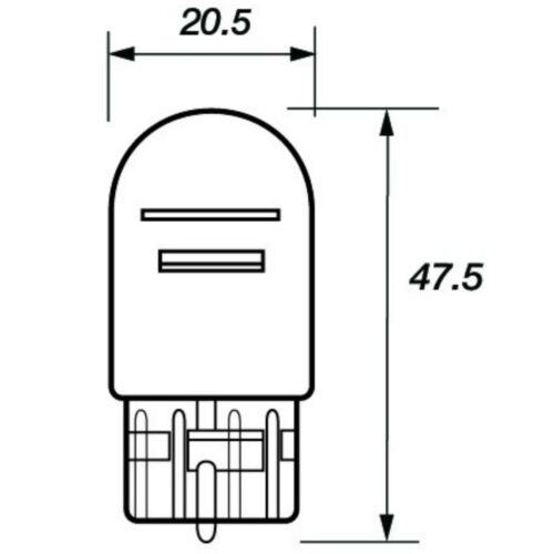 2 x 380W 12V W21//5W 580 T20 Car Capless Wedge Brake Stop Tail Reverse Fog Bulbs