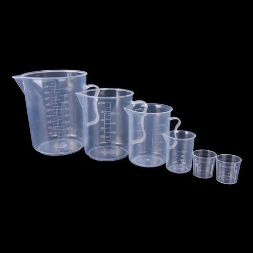 20//30//50//300//500//1000ML Plastic Measuring Cup Jug Pour Spout Surface Kitchen^ng