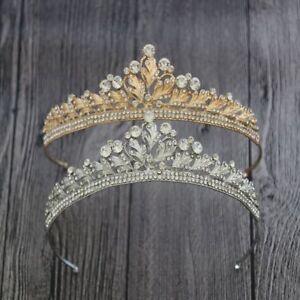 Womens-Crystal-Tassel-Bride-Tiara-Crown-Hairband-Wedding-Jewelry