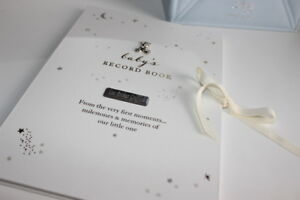 PERSONALISED-BABY-GIFT-My-LittLe-Stars-Baby-Record-Book-ENGRAVED-BABY-GIFT