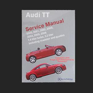new bentley diagram book repair guide service manual for audi tt tt rh ebay com Haynes Shop Manual Audi TT audi tt 2001 manual book