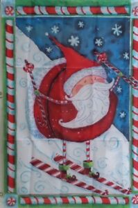 Skiing-Santa-Standard-House-Flag-by-Evergreen-Colorfast-3732-Peppermint