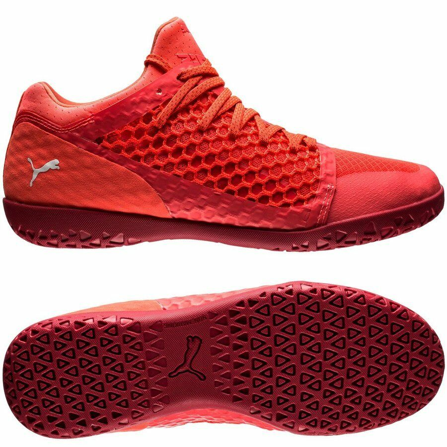 Puma 365 Netfit Court CT 2018 IT Indoor / Training Soccer Shoes  Coral Red