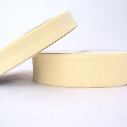 30mm Plain Bias Binding Tape Lemon