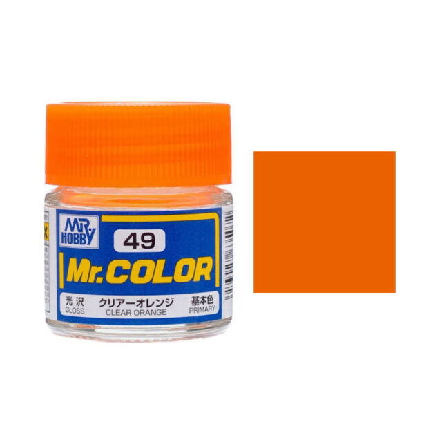 Mr Hobby Color C49 Clear Orange Gloss Paint 10ml Us Model Kit New