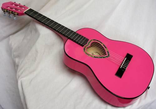 Guitarra k6  corazón-motivo  1 4 talla  rosado rosado rosado  5a0d9a