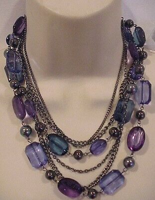 """Apt.9 women/'s beaded necklace gorgeous sold at Kohl/'s 18/"""" long $24 price NWT"""