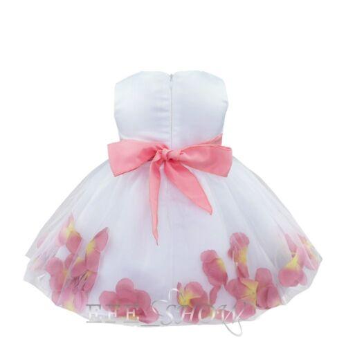 Infant Baby Girl Anniversaire Mariage Pageant Parti Princesse Dentelle Tutu Fleur Robe