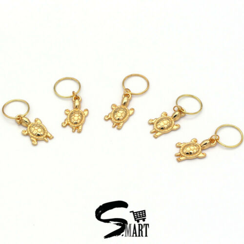 *CUTE* GOLD TURTLE Hair Rings For Tresses Braids Plaits Accessories 10 20//Set