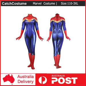 Superhero Captain Marvel Costume Halloween Cosplay Zentai Suit For Adult Kids Ebay Ok, i'm getting started on my version of the new carol danvers suit and thought i'd go ahead and throw it into the mix. ebay