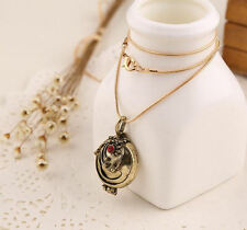 Vampire Diaries Elena Gilbert Antique Gold Locket Pendant Necklace Gift UK Stock
