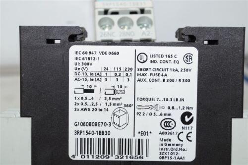 Siemens Sirius tiempo relés relé 3rp1540-1bb30 3rp1540 1bb30