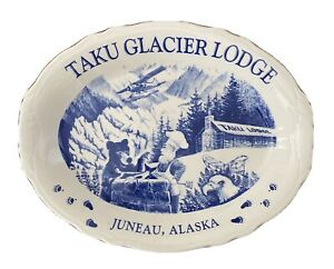 VTG-Taku-Glacier-Lodge-Juneau-Alaska-Platter-Homer-Laughlin-USA-Restaurant-Ware
