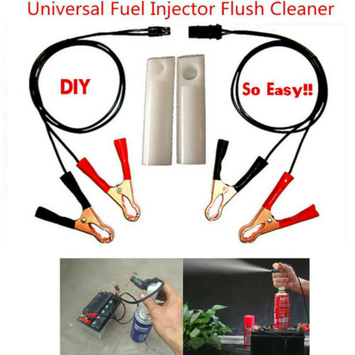 2 Nozzles Vehicle Fuel Injector Flush Cleaner Adapter DIY Kit Car Cleaning Tools