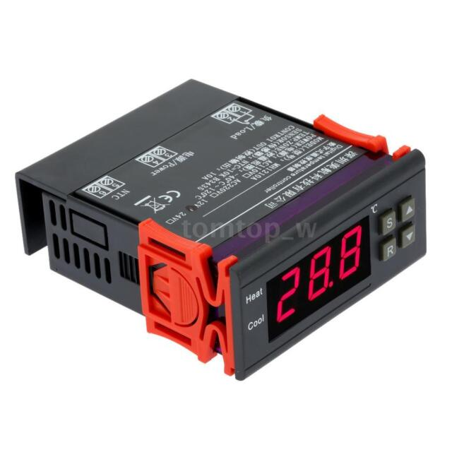 "Digital Temperature Controller Thermostat 12V 10A Switch -40""ƒ-120℃""ƒ w/Sensor"