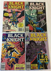 1990-Marvel-Comics-Negro-Caballero-1-2-3-4-Set-Completo