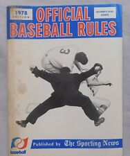 1978 The Sporting News Official Baseball Rules