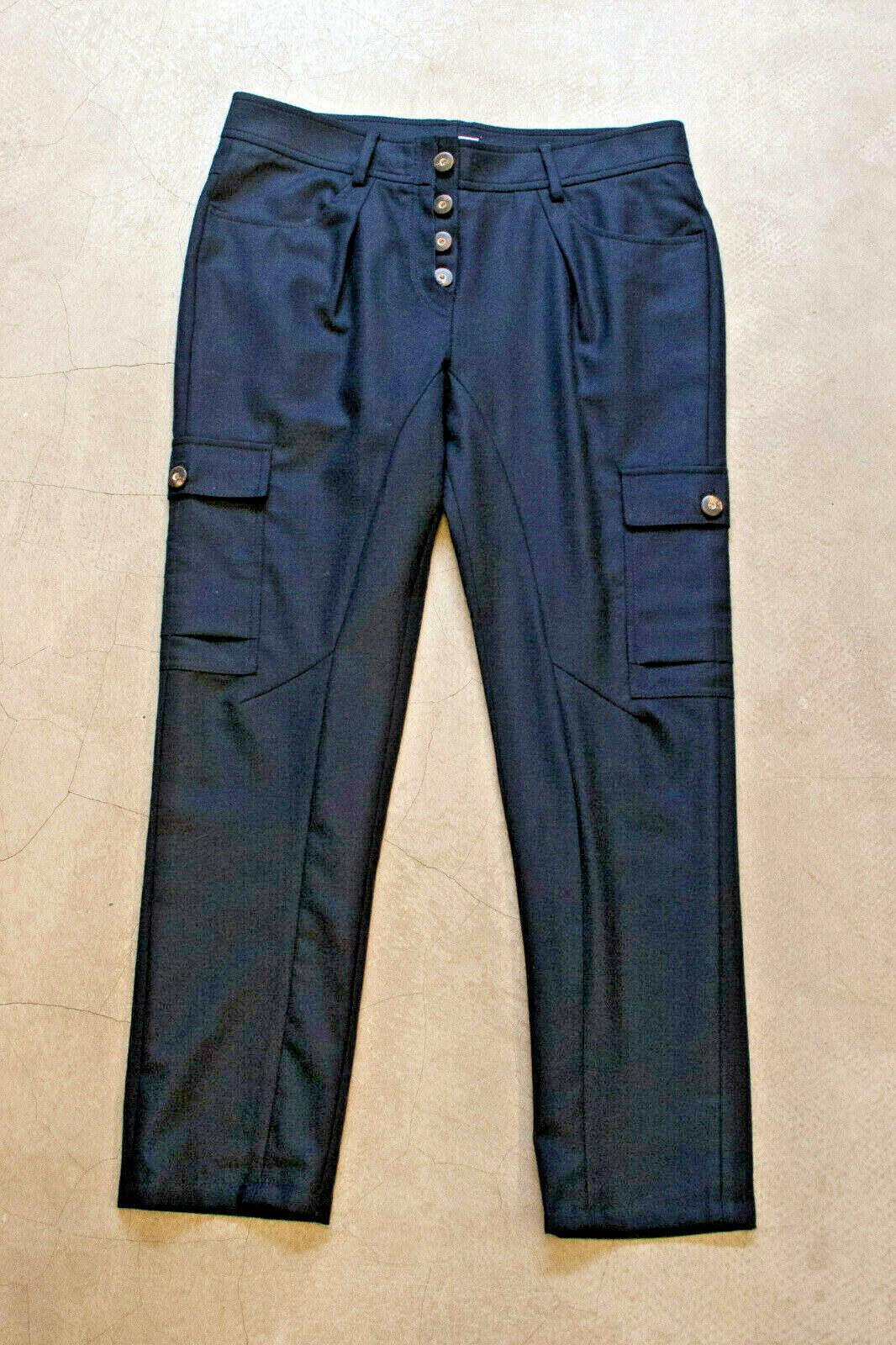 Brunello Cucinelli pantalones azul jinete  pantalones d36 f38 i42 azul wool trousers id3230  barato