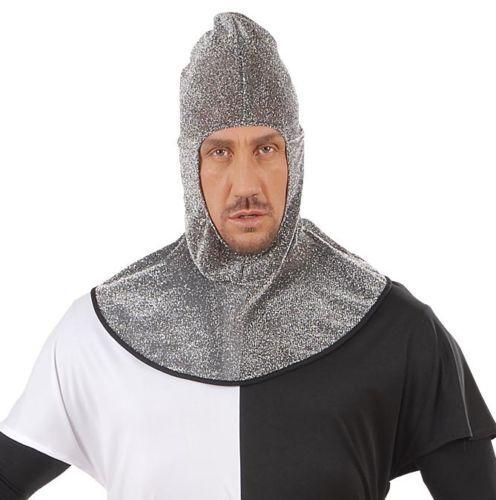 New Medieval Knight Warrior Metallic Hood St George Adult Fancy Dress Accessory