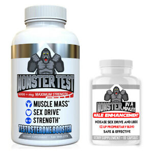 Testosterone-Booster-Monster-Test-6000mg-120-Tab-plus-Monster-Male-Enhancement
