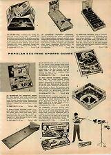1957 PAPER AD Pop Shot Basketball Drop Kick Football Push Button Magnetic