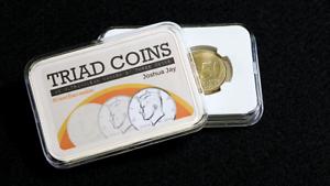 Triad monedas (euro truco y las instrucciones de video en línea) por Joshua Jay y VANIS