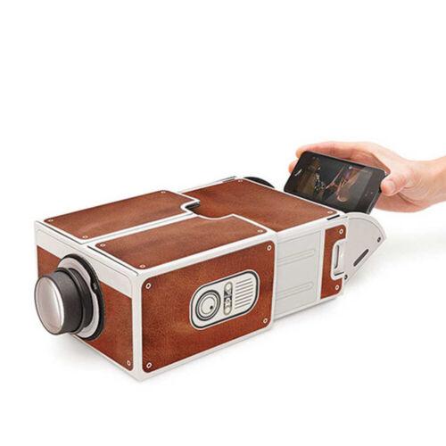 Diy Karton Smart Phone Projektor Handy Theater Kino für Iphone neue U7I4  R2I7