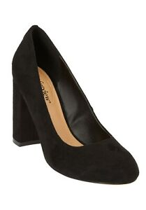 ComfortView Womens Size 9M The Camila Pump Faux Suede Heels Solid Black $89 S1