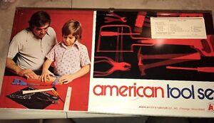 Complet American Toy Jeu D'outils Vintage Antique & Meubles Company