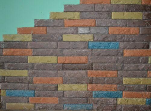 48 pcs MOLDS ANTIQUE BRICK VENEER for concrete plaster wall brick tiles #W08-2