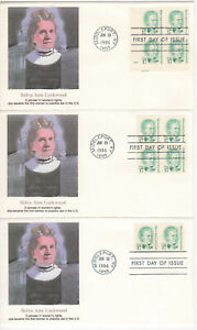 SSS-3-pcs-Fleetwood-FDC-1986-17c-Belva-Ann-Lockwood-Great-Americans-Sc-2178