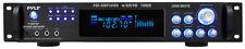 Pyle P3001AT 3000 Watts Hybrid Pre-Amplifier w/AM FM Tuner DJ Pro Audio