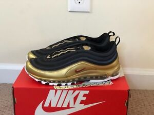 Details about Nike Air Max 97 QS B sides Black Metallic Gold Mens sizes AT5458 002