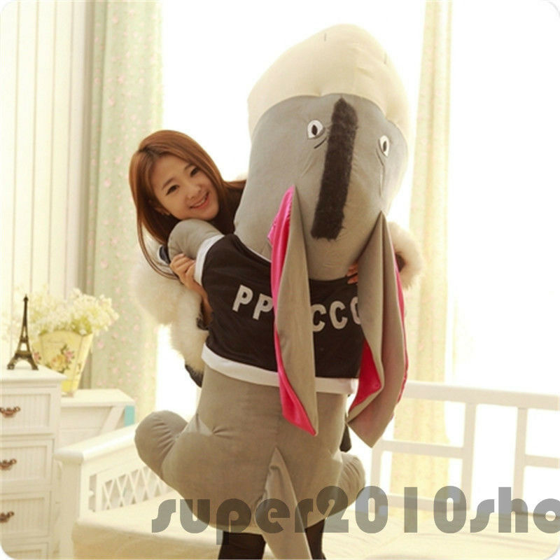 55'' Huge Donkey Plush Toy Stuffed Animal Pillow Doll Valentine Cushion Kid Gift