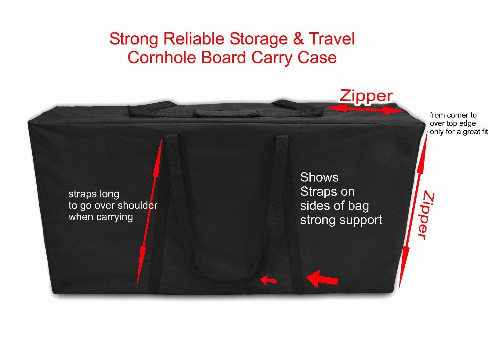 NEW Heavy Canvas Closed Zipper CORNHOLE Corn Toss Board CARRY CASE Fit 2 Boards